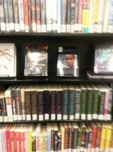 Bereft displayed in the MLK Library's Teenspace!
