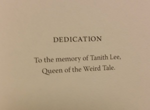 The Nectar of Nightmares is dedicated to Tanith Lee.